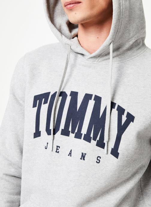 Vêtements Tommy Jeans TJM ESSENTIAL TOMMY HOODIE Gris vue face
