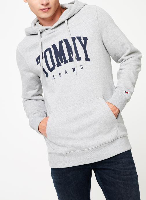 Vêtements Tommy Jeans TJM ESSENTIAL TOMMY HOODIE Gris vue droite