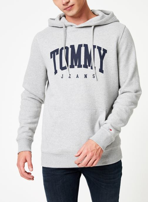 Kleding Tommy Jeans TJM ESSENTIAL TOMMY HOODIE Grijs detail