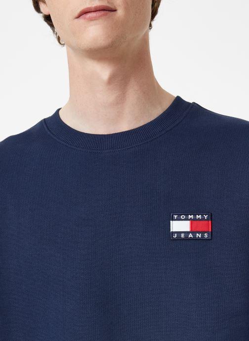 Vêtements Tommy Jeans TJM TOMMY JEANS BADGE CREW Bleu vue face
