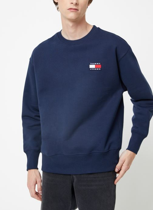 Vêtements Tommy Jeans TJM TOMMY JEANS BADGE CREW Bleu vue droite