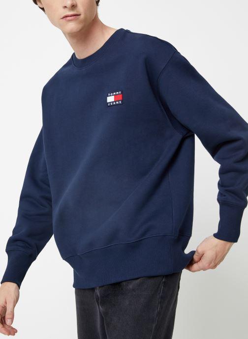 Vêtements Tommy Jeans TJM TOMMY JEANS BADGE CREW Bleu vue détail/paire