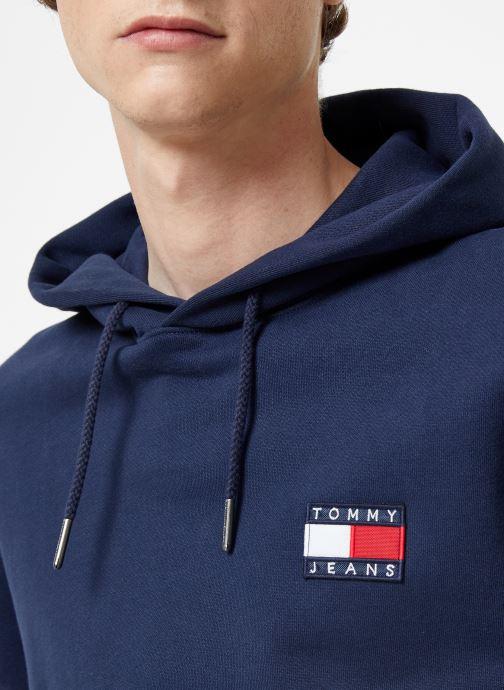 Vêtements Tommy Jeans TJM TOMMY BADGE HOODIE Bleu vue face