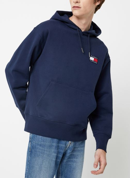 Vêtements Tommy Jeans TJM TOMMY BADGE HOODIE Bleu vue droite