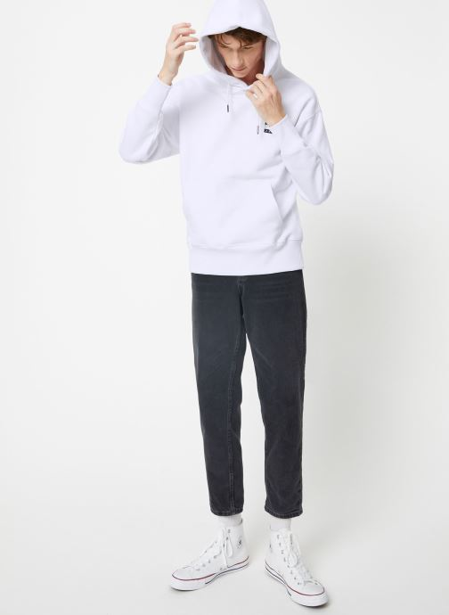 Tøj Tommy Jeans TJM TOMMY BADGE HOODIE Hvid se forneden