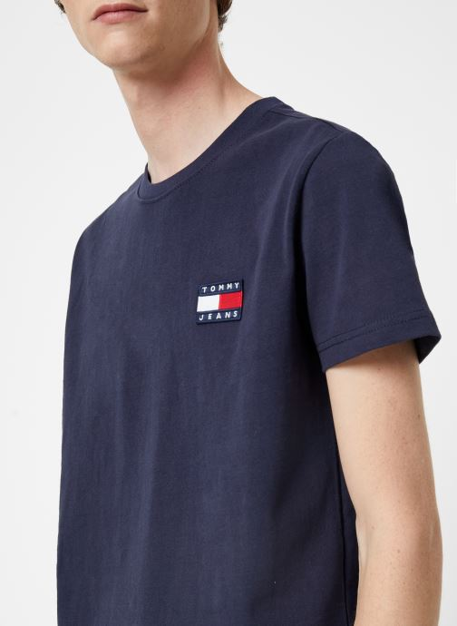 Kleding Tommy Jeans TJM TOMMY JEANS BADGE TEE Blauw voorkant