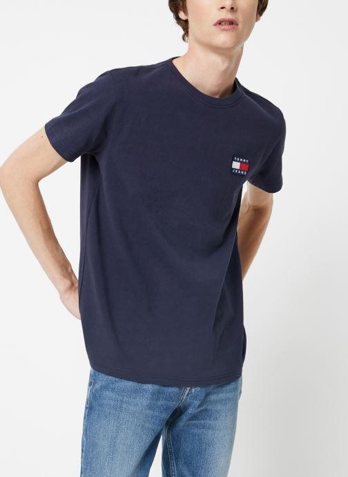 Vêtements Tommy Jeans TJM TOMMY JEANS BADGE TEE Bleu vue droite