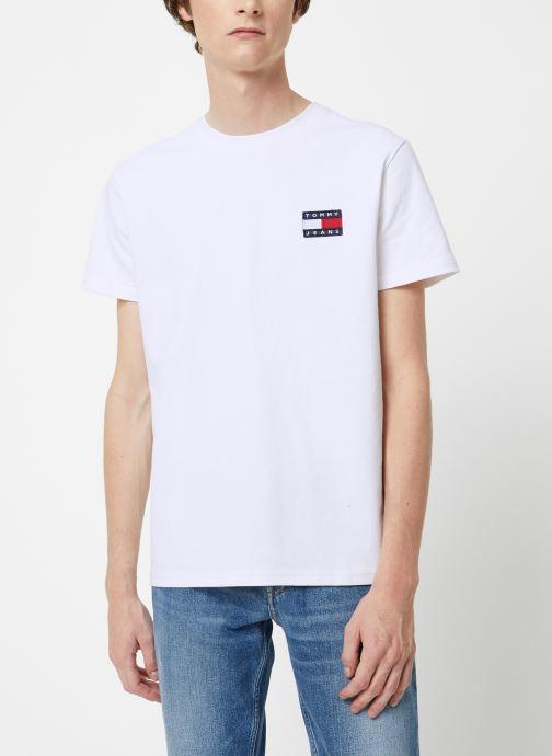 Vêtements Tommy Jeans TJM TOMMY JEANS BADGE TEE Blanc vue droite