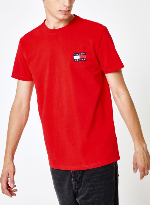 Kleding Tommy Jeans TJM TOMMY JEANS BADGE TEE Rood rechts