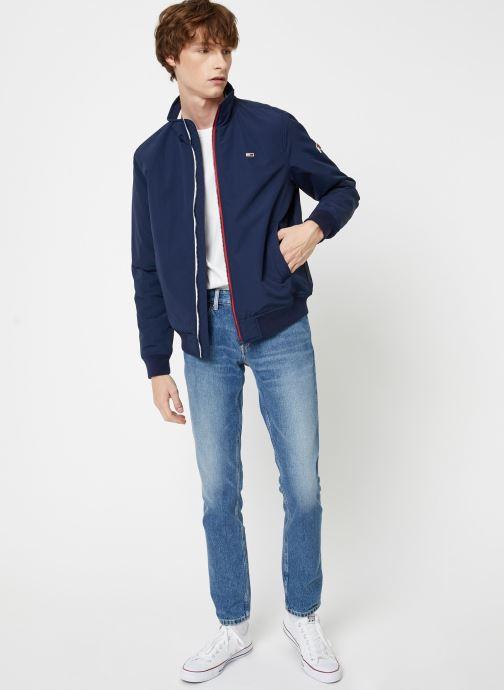 Vêtements Tommy Jeans TJM ESSENTIAL PADDED JACKET Bleu vue bas / vue portée sac