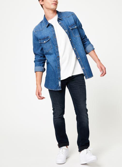 Tøj Tommy Jeans WESTERN DENIM SHIRT MSMB Blå se forneden