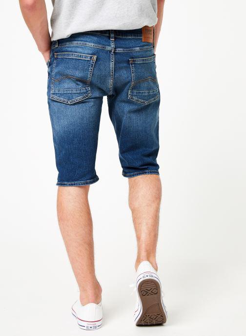 Vêtements Tommy Jeans RONNIE SHORT ATLMC Bleu vue portées chaussures