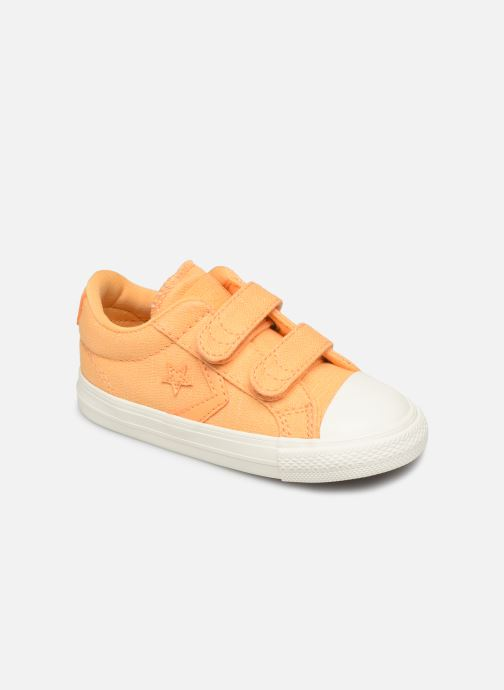 Baskets Converse Star Player 2V Ox Washed Out Jaune vue détail/paire