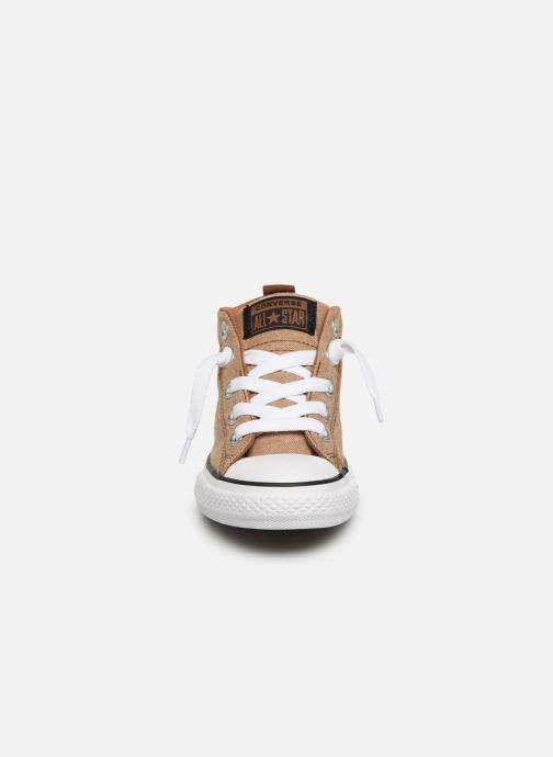 Baskets Converse Chuck Taylor All Star Street Mid Street Urchin Marron vue portées chaussures
