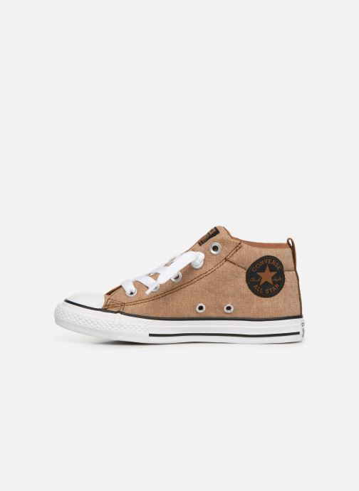 Trainers Converse Chuck Taylor All Star Street Mid Street Urchin Brown front view