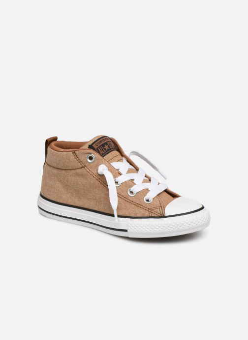 Trainers Converse Chuck Taylor All Star Street Mid Street Urchin Brown detailed view/ Pair view