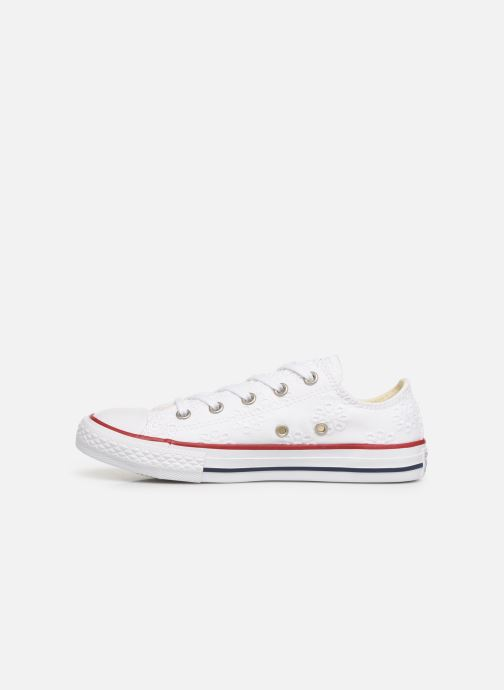 Trainers Converse Chuck Taylor All Star Ox Broaderie Anglias White front view