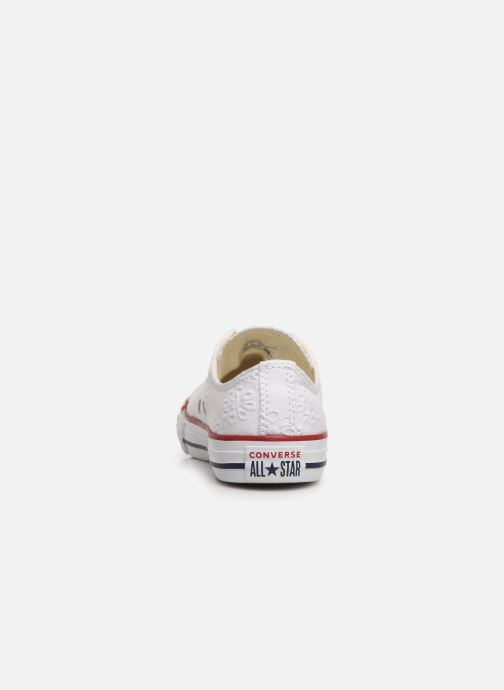 Baskets Converse Chuck Taylor All Star Ox Broaderie Anglias Blanc vue droite