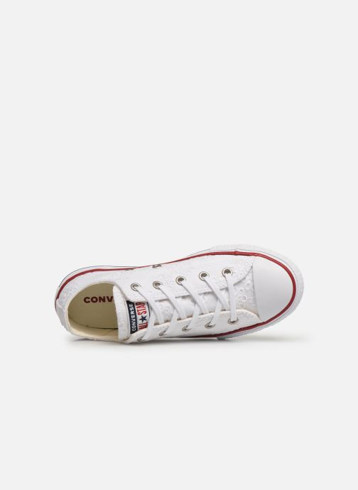 Trainers Converse Chuck Taylor All Star Ox Broaderie Anglias White view from the left