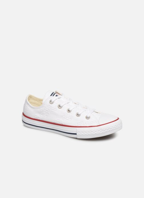 Baskets Converse Chuck Taylor All Star Ox Broaderie Anglias Blanc vue détail/paire