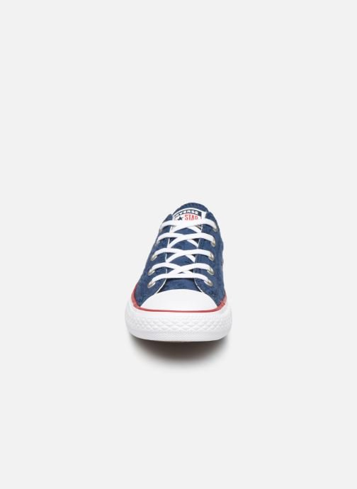 Trainers Converse Chuck Taylor All Star Ox Broaderie Anglias Blue model view