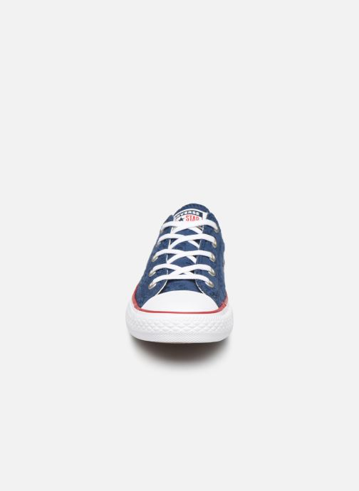 Sneakers Converse Chuck Taylor All Star Ox Broaderie Anglias Blauw model