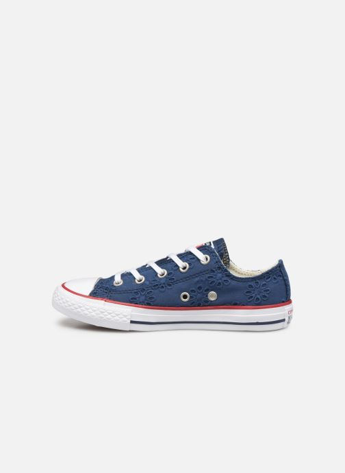 Trainers Converse Chuck Taylor All Star Ox Broaderie Anglias Blue front view