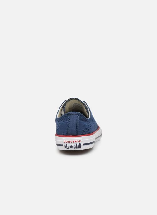 Trainers Converse Chuck Taylor All Star Ox Broaderie Anglias Blue view from the right