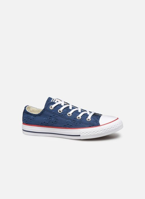 Trainers Converse Chuck Taylor All Star Ox Broaderie Anglias Blue back view