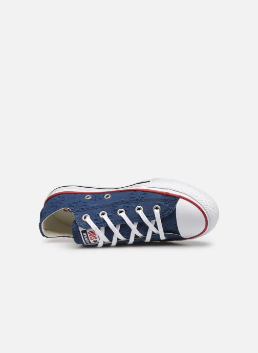 Trainers Converse Chuck Taylor All Star Ox Broaderie Anglias Blue view from the left