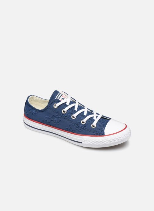Sneakers Converse Chuck Taylor All Star Ox Broaderie Anglias Blauw detail