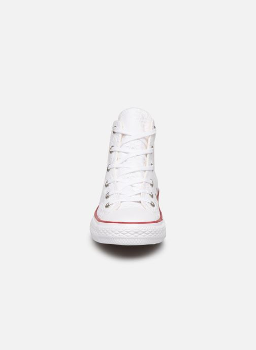 Trainers Converse Chuck Taylor All Star Hi Broaderie Anglais White model view