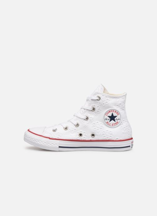 Trainers Converse Chuck Taylor All Star Hi Broaderie Anglais White front view