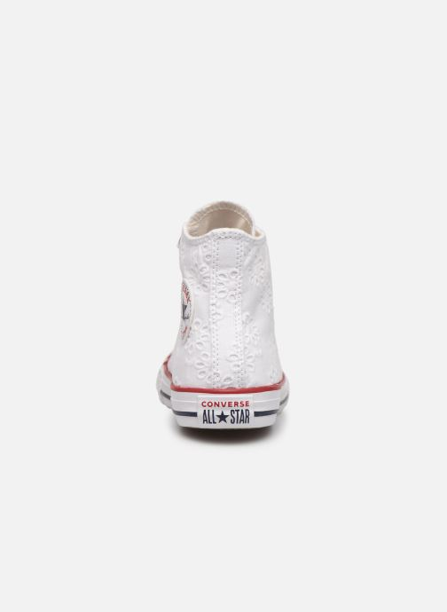 Trainers Converse Chuck Taylor All Star Hi Broaderie Anglais White view from the right
