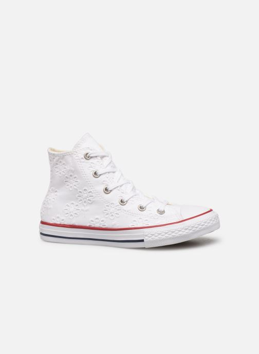 Sneakers Converse Chuck Taylor All Star Hi Broaderie Anglais Wit achterkant
