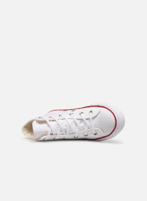 Trainers Converse Chuck Taylor All Star Hi Broaderie Anglais White view from the left