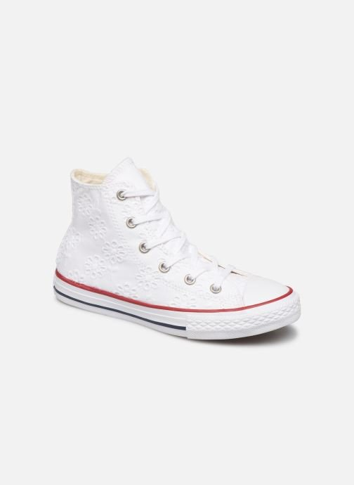 Trainers Converse Chuck Taylor All Star Hi Broaderie Anglais White detailed view/ Pair view