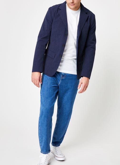 Vêtements Commune de Paris VESTE PROTOT Bleu vue bas / vue portée sac