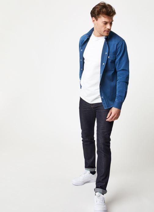 Vêtements Commune de Paris OVERSHIRT BLANQUI Bleu vue bas / vue portée sac