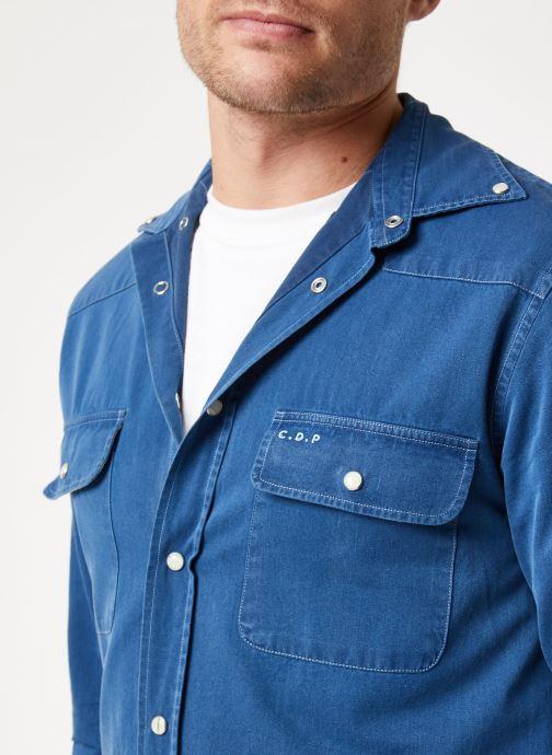 Vêtements Commune de Paris OVERSHIRT BLANQUI Bleu vue face