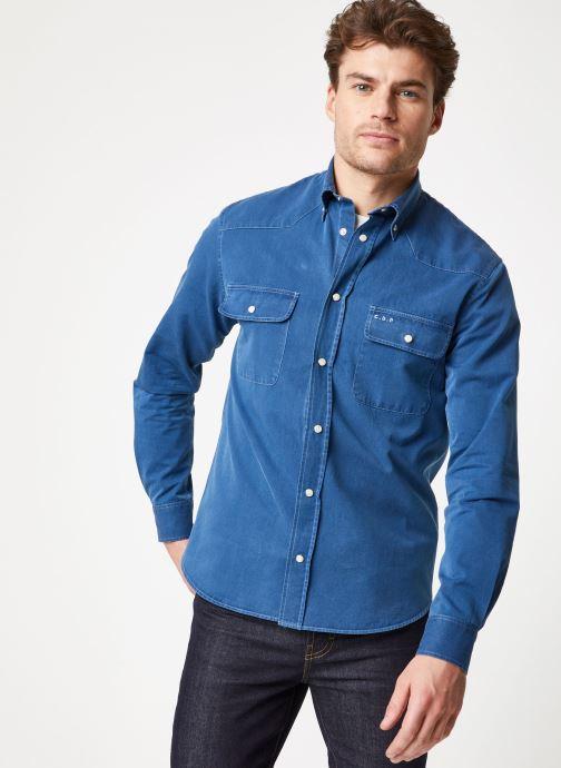 Vêtements Commune de Paris OVERSHIRT BLANQUI Bleu vue droite
