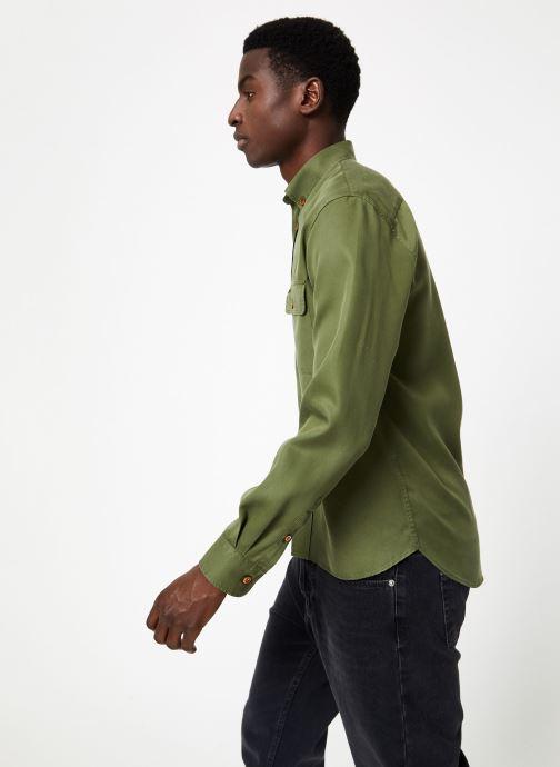 Vêtements Commune de Paris OVERSHIRT BLANQUI Vert vue droite