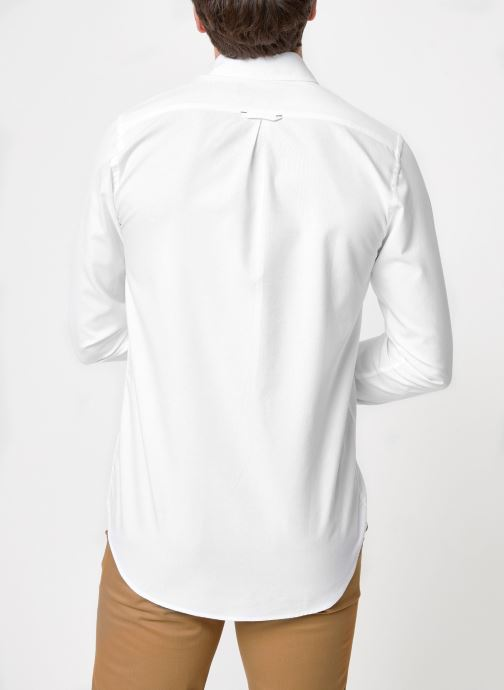 Vêtements Commune de Paris CHEMISE EUDES-B Blanc vue portées chaussures
