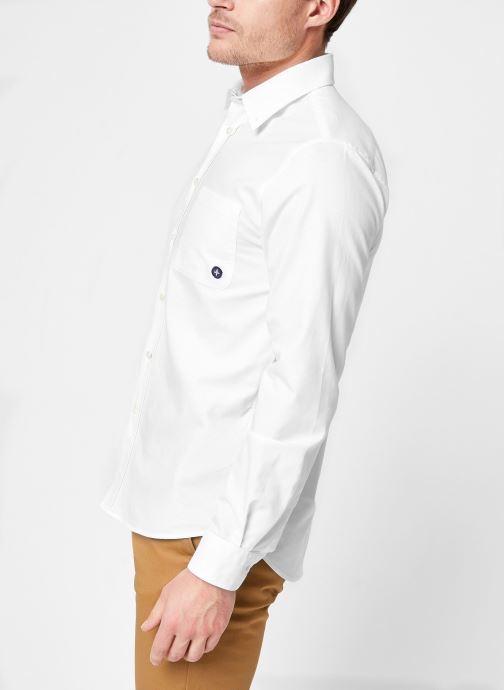 Vêtements Commune de Paris CHEMISE EUDES-B Blanc vue droite
