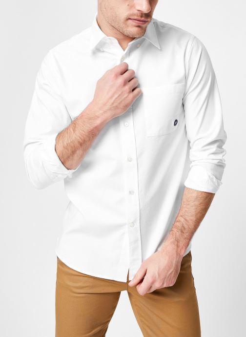 Vêtements Commune de Paris CHEMISE EUDES-B Blanc vue détail/paire