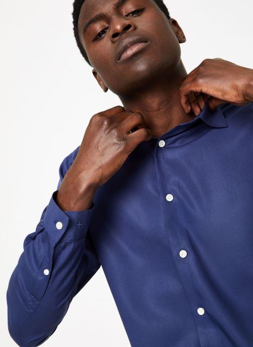 Vêtements Commune de Paris CHEMISE SORBIER Bleu vue face