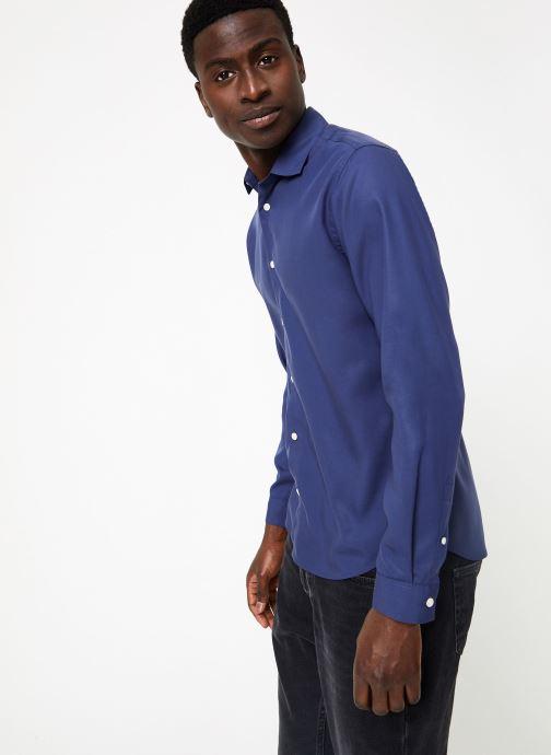Vêtements Commune de Paris CHEMISE SORBIER Bleu vue droite