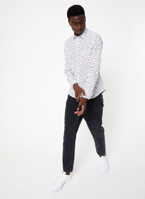 Vêtements Commune de Paris CHEMISE ROSSEL Blanc vue bas / vue portée sac