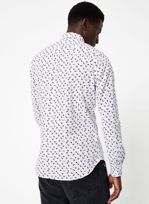 Vêtements Commune de Paris CHEMISE ROSSEL Blanc vue portées chaussures