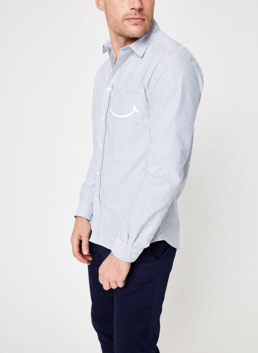 Vêtements Commune de Paris CHEMISE ROSSEL Bleu vue droite